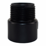 Charlotte Pipe & Foundry ABS 00109  1400HA Pipe Fitting, ABS/DWV Male Adapter, 4-In., MPT x Hub