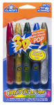 Elmer's Products E642 5-Pack Washable 3D Glitter Paint Pens