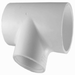 Genova Products 31485 PVC Pressure Pipe Fitting,Reducing Tee, White PVC, 1 x 1 x 1/2-In.