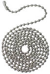 Westinghouse Lighting 77049 Beaded Stainless-Steel Chain, 3-Ft.