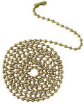 Westinghouse Lighting 77050 3-Ft. Polished Brass Beaded Chain