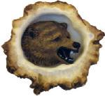 Sierra Lifestyles SL-681353 Deer Burr Cabinet Knob,  Grizzly Bear