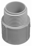 Thomas & Betts E943DR-CTN PVC Terminal Adapter, Electrical, 1/2-In.