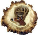 Sierra Lifestyles SL-681354 Deer Burr Cabinet Knob,  Whitetail Deer