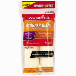 Wooster Brush RR304-4 1/2 Jumbo-Koter Paint Roller Cover, Mohair Blend, 1/4 x 4.5-In., 2-Pk.