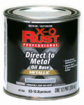 True Value Mfg XO10-HP Oil Base Paint, Gloss, Aluminum, Interior/Exterior, 1/2-Pt.