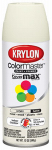 Krylon Diversified Brands K05351002 Indoor and Outdoor Spray Paint, Satin Ivory, 12-oz.