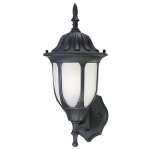 Westinghouse Lighting 66826 100-Watt Black Aluminum Wall Lantern