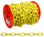 Apex Tools Group PD0725027 100-Foot Reel 3/16-Inch Yellow Polymer Proof Coil Chain