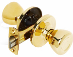 Kwikset 200T 3 CP Security Brass Tylo Passage Lockset