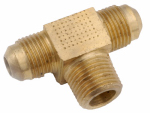 Anderson Metals 54045-0608 3/8 x 1/2-Inch Male Pipe Thread Brass Flare Branch Tee