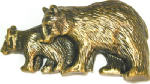 Sierra Lifestyles SL-681410 Bear Cabinet Pull,  Antique Brass