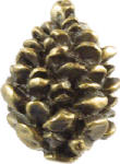 Sierra Lifestyles SL-681326 Pinecone Cabinet Knob, Antique Brass