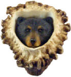 Sierra Lifestyles SL-681350 Deer Burr Cabinet Knob, Black Bear