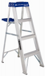 Louisville Ladder AS2104 4-Ft. Step Ladder, Aluminum, Type I, 250-Lb. Duty Rating