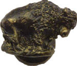 Sierra Lifestyles SL-681286 Buffalo Cabinet Knob, Bronzed Black