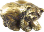 Sierra Lifestyles SL-681294 Grizzly Cabinet Knob, Antique Brass