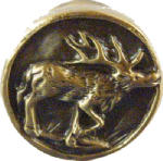 Sierra Lifestyles SL-681314 Elk Cabinet Knob, Antique Brass