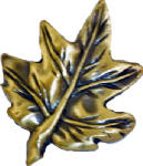 Sierra Lifestyles SL-681320 Maple Leaf Cabinet Knob, Antique Brass