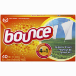 Procter & Gamble 80049 Fabric Softener Dryer Sheets, Outdoor Fresh, 40-Ct.