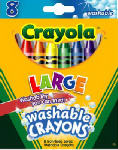 Crayola 52-3280 8-Count  Kid's First Crayons