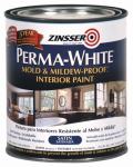 Zinsser & 2704 Zinsser Perma-White Qt. White Satin Mold & Mildew Proof Interior Paint,