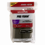 Wooster Brush RR308-4 1/2 Jumbo Koter Pro Foam Paint Roller Covers, 4.5-In., 2-Pk.