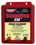 Parker Mc Crory Mfg EM-200 Surround EM Electric Fence Charger, 5-Mile, Low Impedance, Uses 12-Volt Car Battery