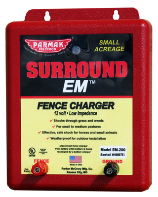 Parmak EM-200 Surround EM Electric Fence Charger, 5-Mile, Lo