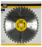 Disston 440891 10-Inch Smooth-Cut Combo Circular Saw Blade