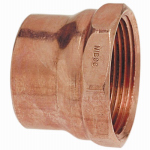 Elkhart Products 46002 1-1/2 Inch Female Pipe Thread Wrot Copper DWV Adapter