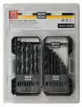 Disston 441496 21-Piece Black Oxide Drill Bit Set