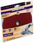 3M 9636 Sandblaster 2-Pk., 7-In. 60-Grit Fiber Sanding Disc