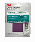 3M 9660SB-ES 4-Pack Sandblaster 4.5 x 5.5-Inch 60-Grit Clip-On Palm Sander Sheet