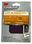 3M 9662SB-ES 4-Pack Sandblaster 4.5 x 5.5-Inch 180-Grit Clip-On Palm Sander Sheet