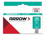 Arrow Fastener 205 T-20 Staples, 5/16-In., 1000-Ct.