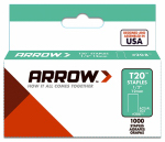 Arrow Fastener 208 T-20 Staples, 1/2-In., 1000-Ct.