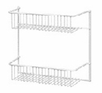 Closetmaid 800200 2-Wire-Shelf Unit, Door Or Wall Rack, White, 12-In.