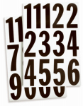 Hy-Ko Prod MM-4N 3-Inch Black/ White Vinyl Adhesive Packaged Numbers