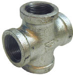 "Pannext Fittings G-CRS10 1"" Galv Cross"