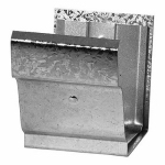 Construction Metals OG4SCG Gutter Snap On Connector, Galvanized