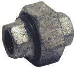 B & K/Mueller Inds(Import) 511-705HN Galvanized Pipe Fitting, Union, Brass/Iron, 1-In.