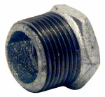 B & K/Mueller Inds(Import) 511-943HN Pipe Fitting, Galvanized Hex Bushing, 3/4 x 1/2-In.