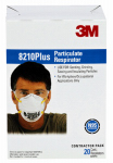 3M 8210PPB1-A 20-Pack N95 Filtering Facepiece Particulate Respirator
