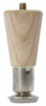Waddell Manufacturing 2504 Round Taper Table Leg, 4-In.