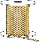 Hy-Ko Prod KBC198BR Ball Chain, #6, Yellow Brass