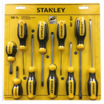 Stanley Consumer Tools 60-100 Standard Fluted Screwdrivers, 10-Pc. Set