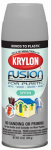 Krylon Diversified Brands 2439 Fusion Spray Paint for Plastic, Satin Pewter Gray, 12-oz.