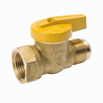 B&K 114-522 Gas Ball Valve, Brass, Flare x Female, 3/8 x 1/2-In.