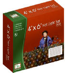 Noma/Inliten-Import 48951-88 Christmas Net Light Set, Multi-Color, 150-Ct., 4 x 6-Ft.